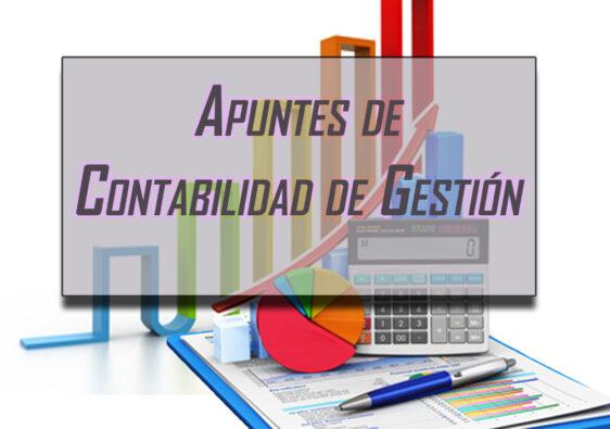 Apuntes de contabilidad de gestión.