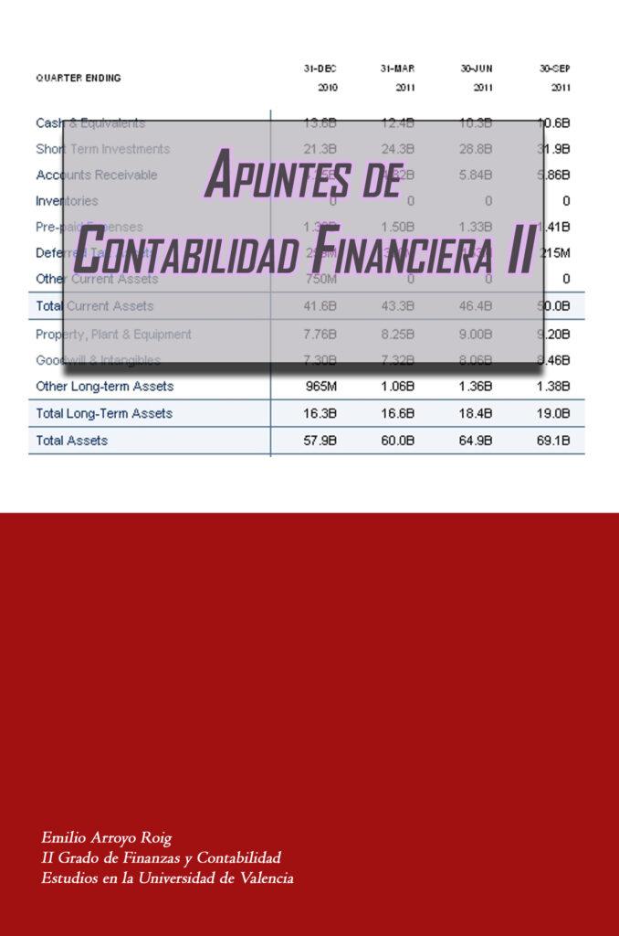 Apuntes de contabilidad financiera avanzada de venta en Amazon.